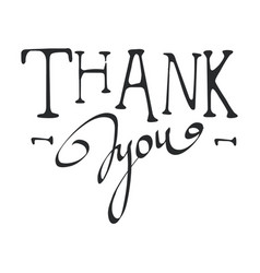 Thank you calligraphy isolated vector