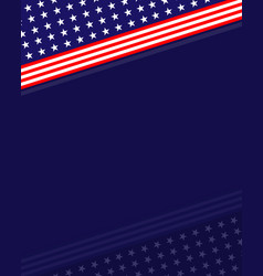 Us abstract flag symbols background border vector