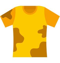 Used kid tshirt icon flat isolated vector