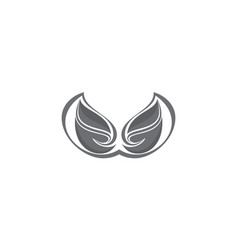 wing art abstract logo vector image