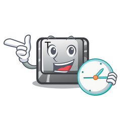 With clock t button installed on character vector