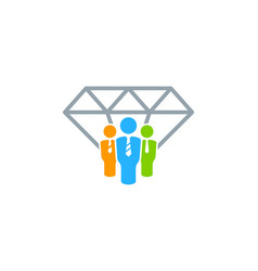 work diamond logo icon design vector image