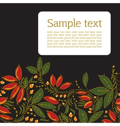 Card with the image of barberry vector image vector image