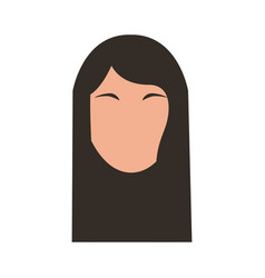 head woman character icon vector image vector image