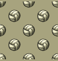 playing ball seamless pattern vector image vector image