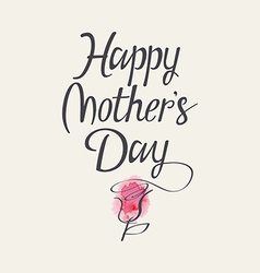 The words Happy Mothers Day vector image