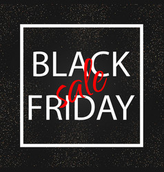 black friday sale gold glitter background vector image