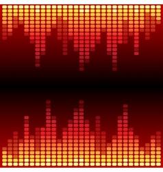 Red and orange digital equalizer background vector image vector image