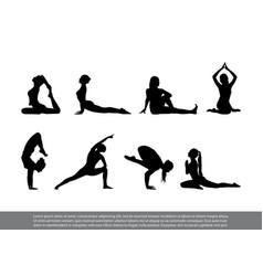 Set yoga poses vector