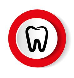teeth icon dentist flat sign vector image