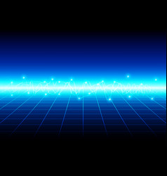 abstract blue light with grid technology vector image vector image