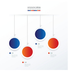 Circle hanging concept blue red color vector
