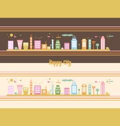 Happy-City vector image