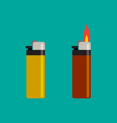 long lighters icon in flat style vector image