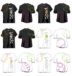 Sport T-shirts Designs Set vector image