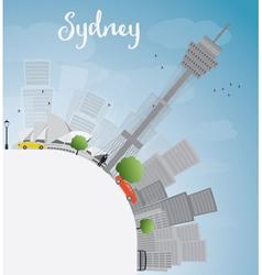 Sydney city skyline with blue sky skyscrapers vector