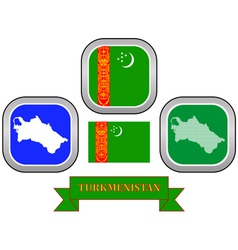 symbol of Turkmenistan vector image