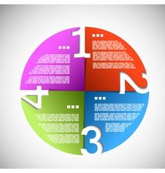 Color paper progress circle vector image