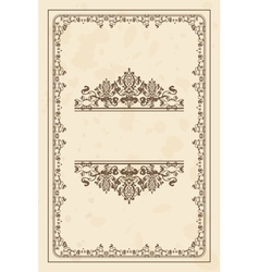 parchment frame vector image vector image