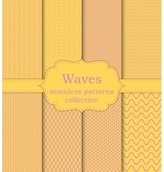 set of seamless patterns waves vector image vector image
