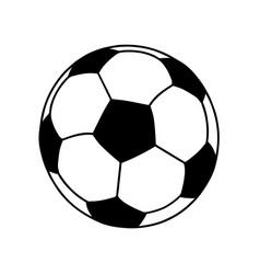 soccer ball or football ball shape icon vector image