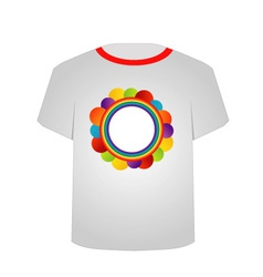 T Shirt Template- Circle art vector image