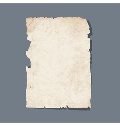 Torn sheet of old paper vector