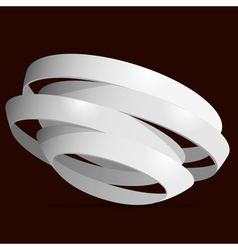 3d white rings vector image