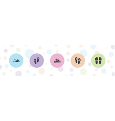 5 flops icons vector