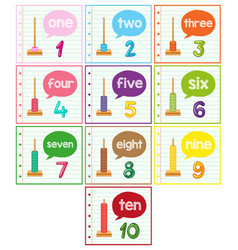 Abacus and number set vector