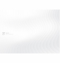 Abstract white waves pattern background vector