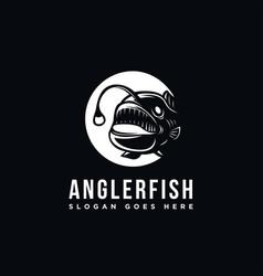 Angler fish logo icon template vector