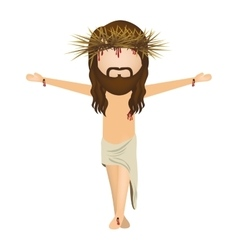 Avatar jesus christ with cro vector