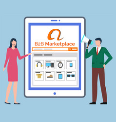 B2b marketplace online store shopping vector