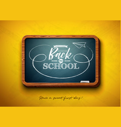 back to school design with chalkboard vector image