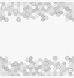 Banner consisting grey honeycomb tiles vector
