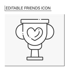 Best friend line icon vector
