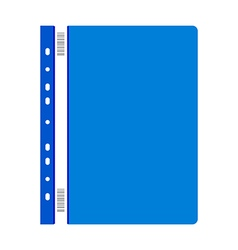 Blue plastic folder vector