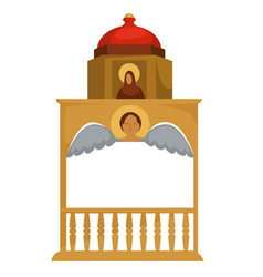 byzantium architecture gold well with icon and vector image