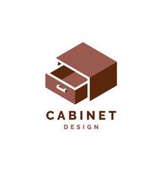Cabinet logo design furniture vector
