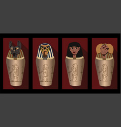 Canopic jars - ancient egyptian elements using vector
