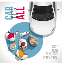 Car for all auto for everyone vector