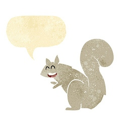 Cartoon squirrel with speech bubble vector