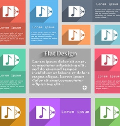 Cd player icon sign Set of multicolored buttons vector