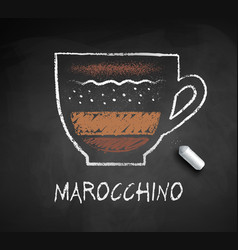 chalked sketch marocchino coffee vector image