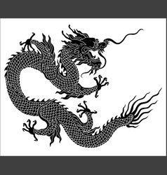 Chinese dragon silhouette vector