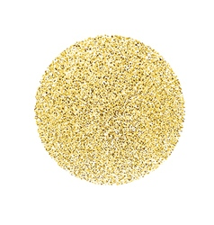 Circle with gold glitter particles on white vector