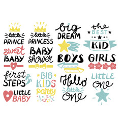 collection 13 children logo with handwriting vector image