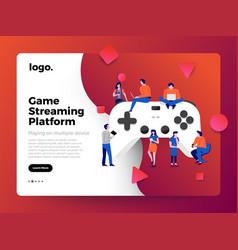 Concept game streaming platform vector