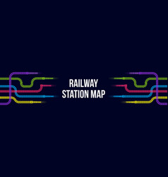 Creative of railway station vector